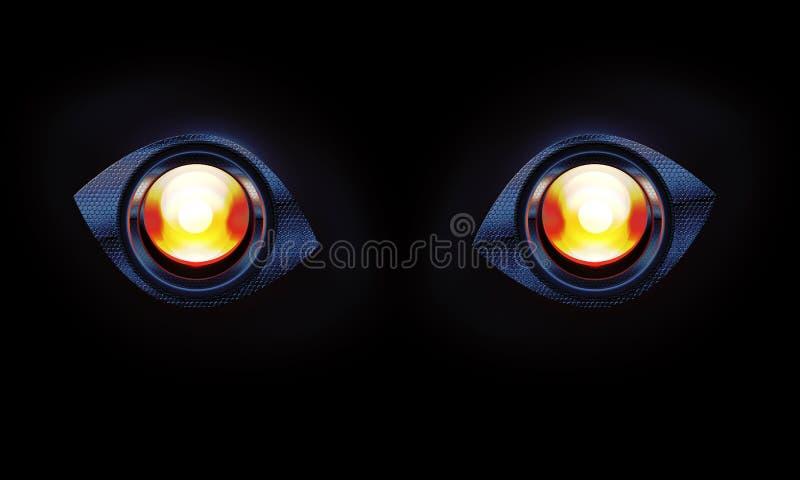 Стилизованный глаз робота бесплатная иллюстрация