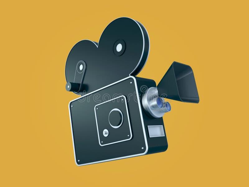 Стилизованный ретро киносъемочный аппарат бесплатная иллюстрация