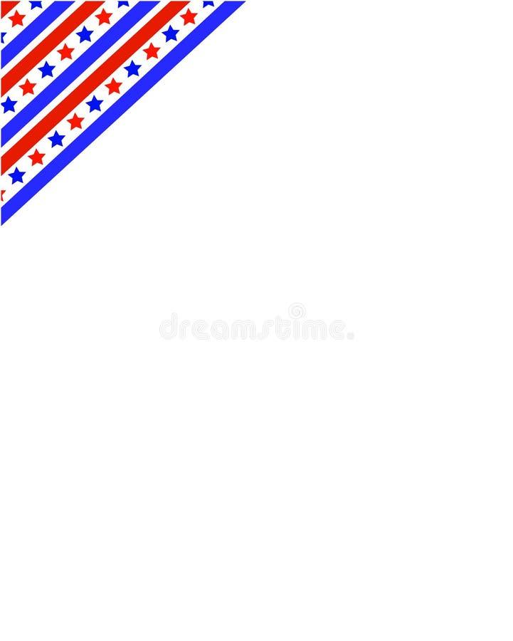 Стилизованный угол рамки флага США иллюстрация вектора