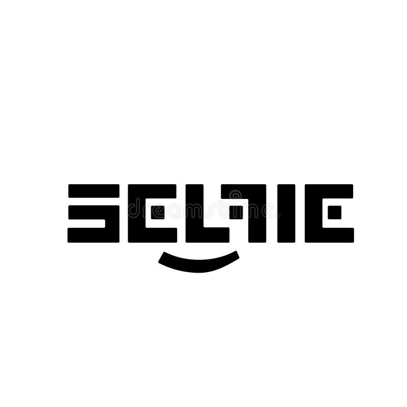 Стилизованный черный логотип SELFI вектора на белой предпосылке Красивый и современный дизайн для клеймить стоковая фотография rf