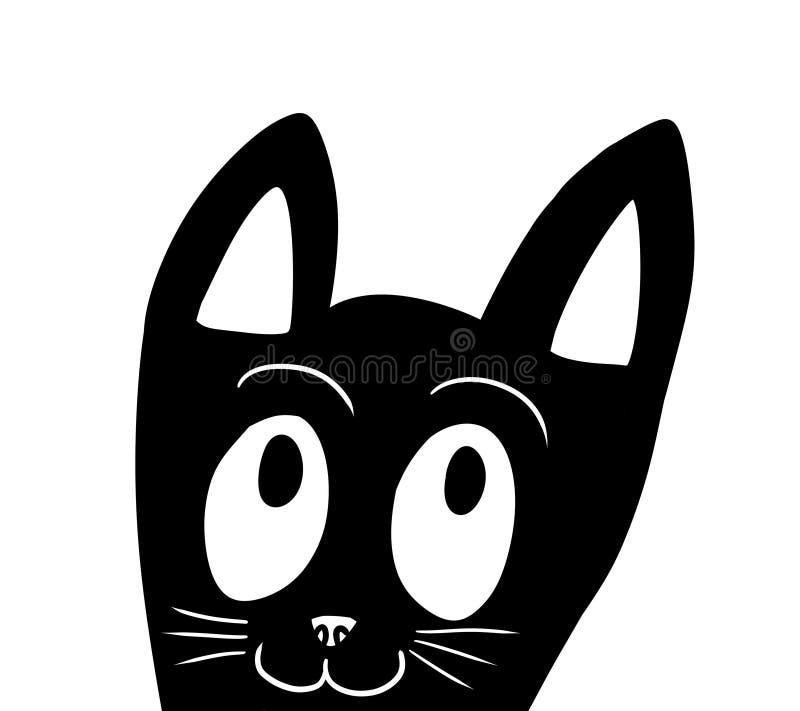Стилизованный черный прелестный Doodle кота бесплатная иллюстрация