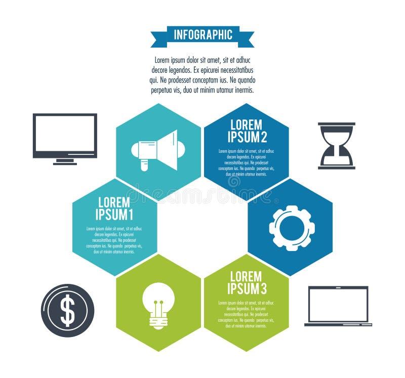 Стили и организация Infographic бесплатная иллюстрация