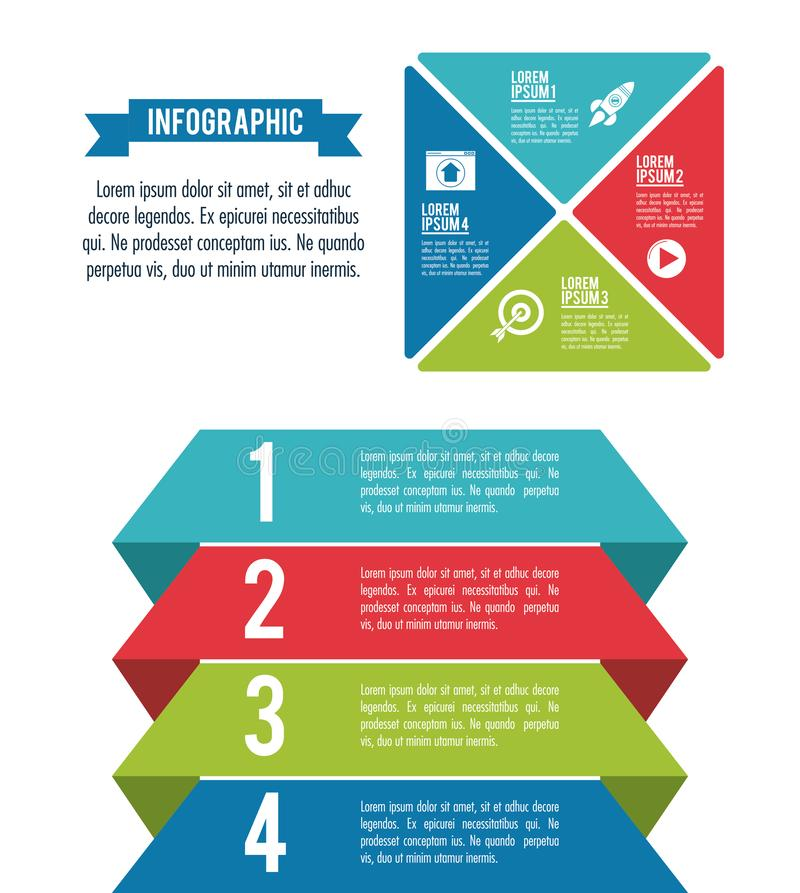 Стили и организация Infographic иллюстрация вектора