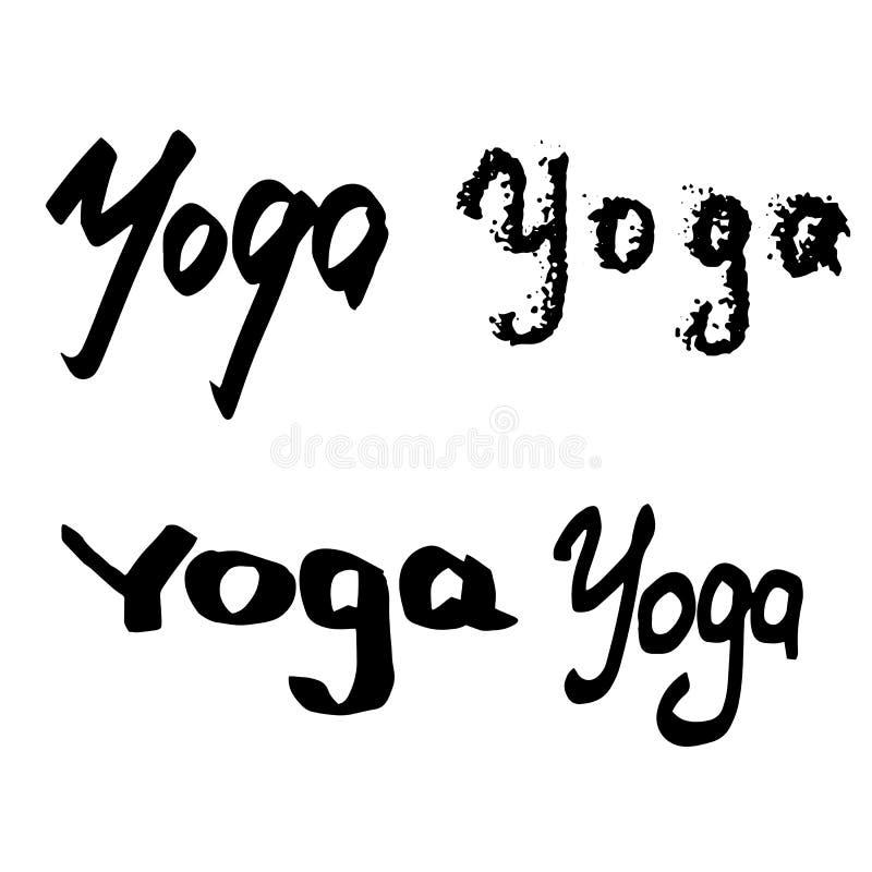 Стили whith йоги Handlettering различные иллюстрация штока