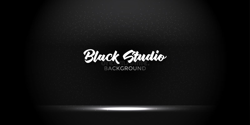 Стильная черная предпосылка комнаты витрины студии градиента с темнотой и свет на конспекте текстуры стены, пустом космосе, могут стоковые изображения