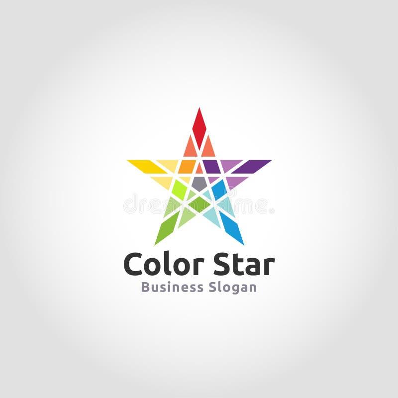 Стильный красочный логотип звезды иллюстрация вектора