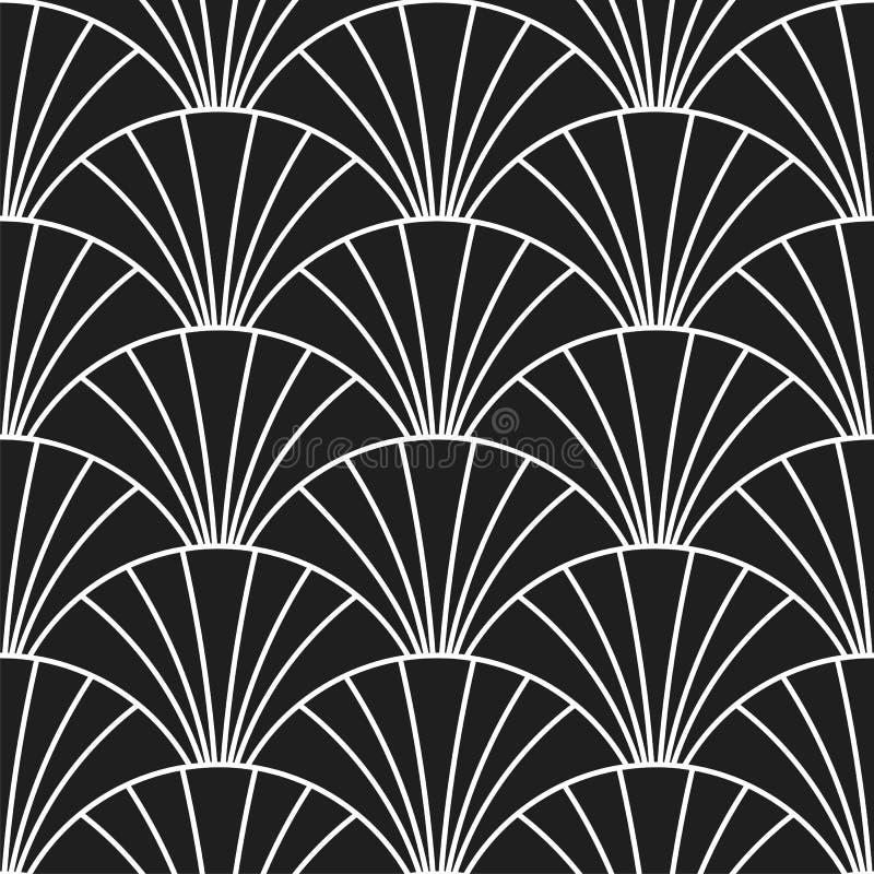 Стиль Арт Деко ретро Gatsby вычисляет по маcштабу безшовную картину бесплатная иллюстрация