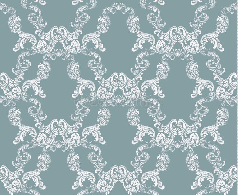 Стиль винтажного цветочного узора штофа имперский Предпосылка оформления вектора Роскошный классический орнамент Королевская викт иллюстрация штока