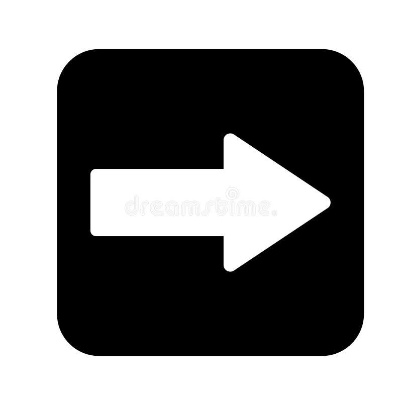 Стиль дизайна вектора значка стрелки плоский - вектор иллюстрация вектора