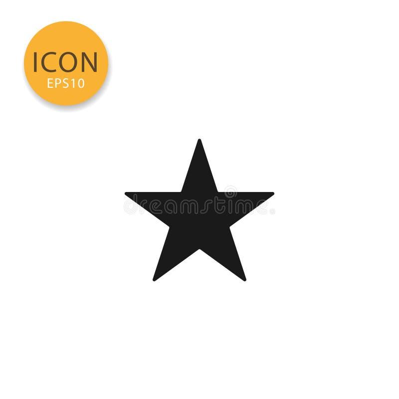 Стиль звезды изолированный значком плоский бесплатная иллюстрация