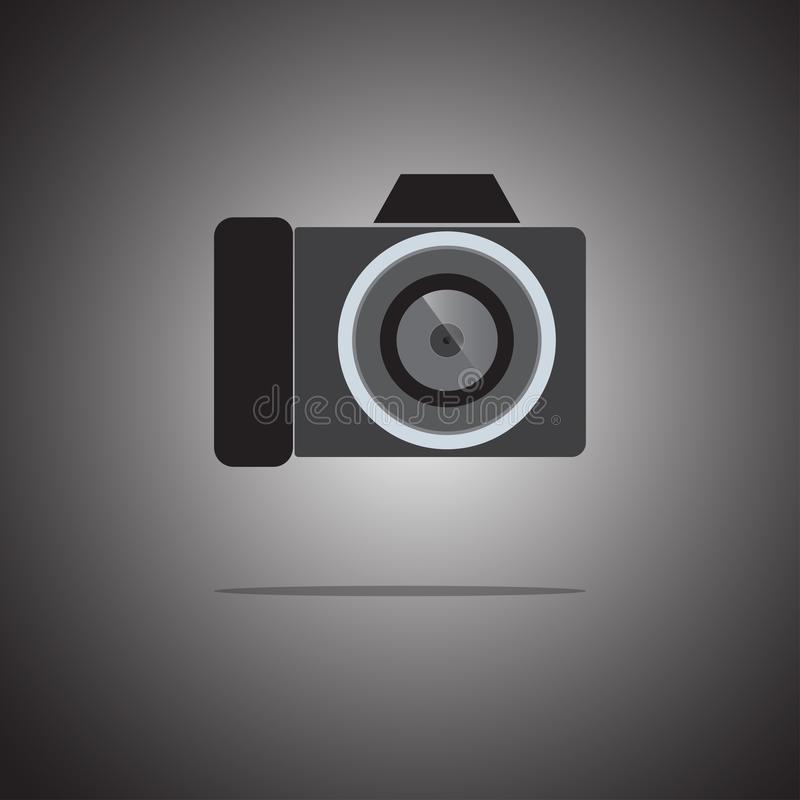 Стиль значка камеры плоский на предпосылке градиента r r иллюстрация штока