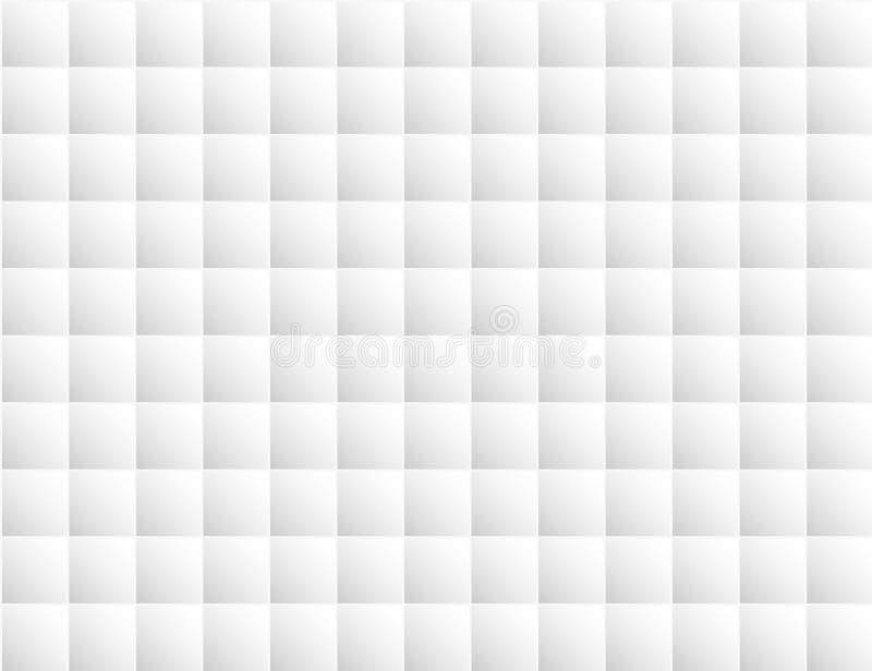 Стиль квадратного блока предпосылки конспекта белый геометрический Дизайн для фона, обложки книги, интерьера, обоев, пола иллюстрация вектора
