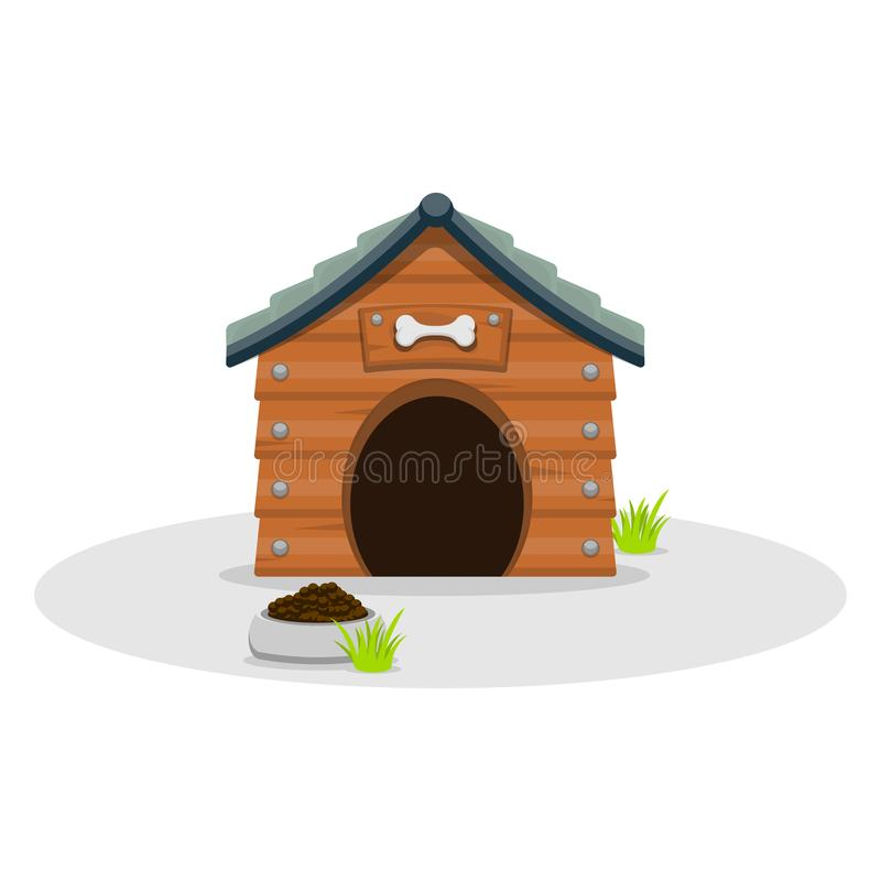 Стиль мультфильма дома собаки плоский r r иллюстрация штока