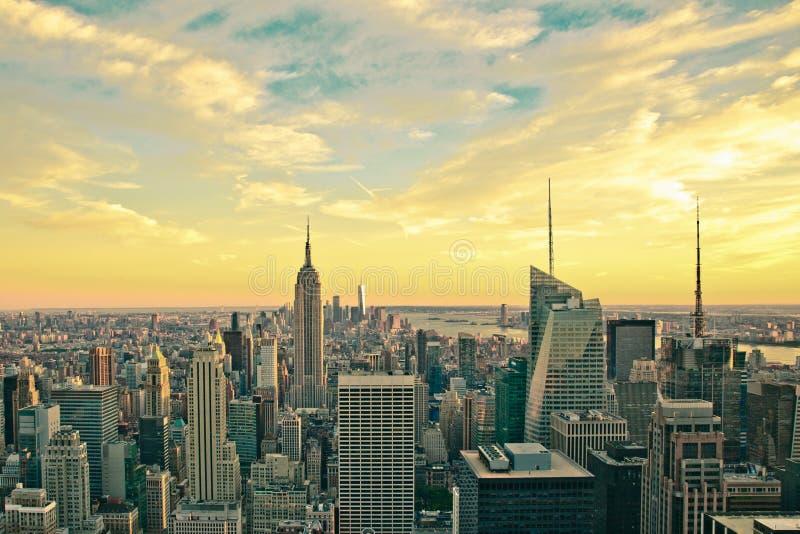 Стиль Нью-Йорка винтажный стоковое изображение