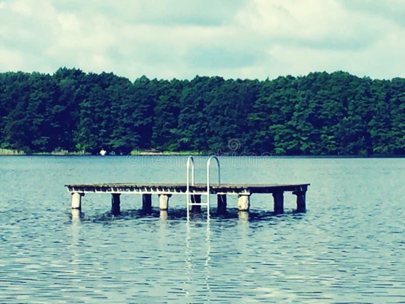 Стиль платформы заплывания винтажный стоковые фотографии rf