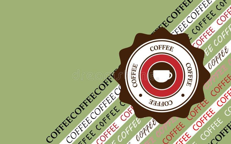 Стиль предпосылки кофе ретро также вектор иллюстрации притяжки corel стоковые фото