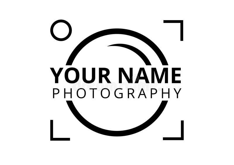 Стиль равнины логотипа фотографа иллюстрация вектора