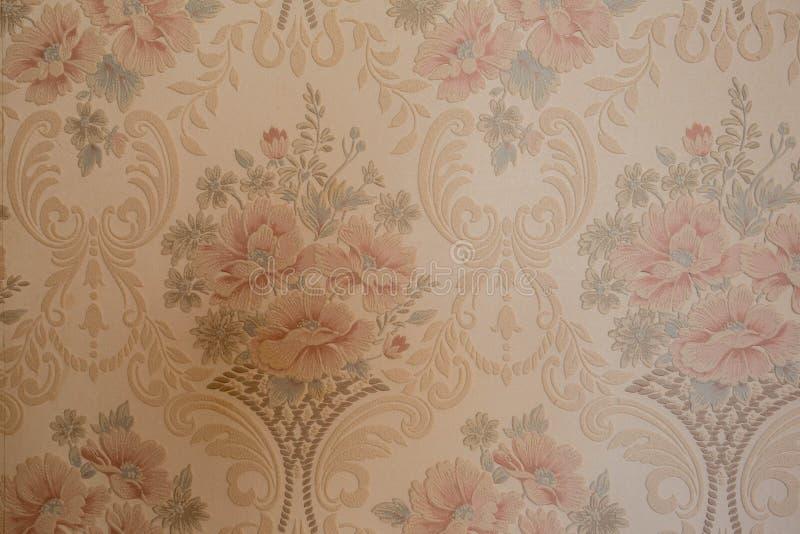 стиль розового дизайна текстуры предпосылки обоев цветков винтажного старого красивый стоковая фотография