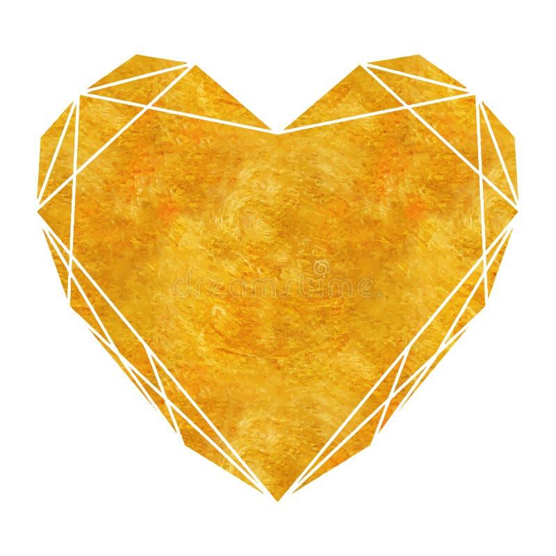 Стиль стиля Арт Деко золота геометрический полигональный для wedding приглашения, роскошных шаблонов, декоративной картины Соврем бесплатная иллюстрация