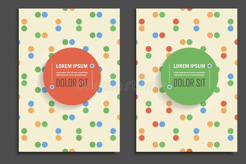 Стиль точек брошюр вектора винтажный стоковые изображения