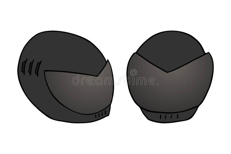 Стиль черной руки шлема рисуя бесплатная иллюстрация