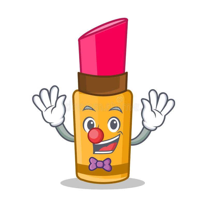 Стиль шаржа характера губной помады клоуна бесплатная иллюстрация