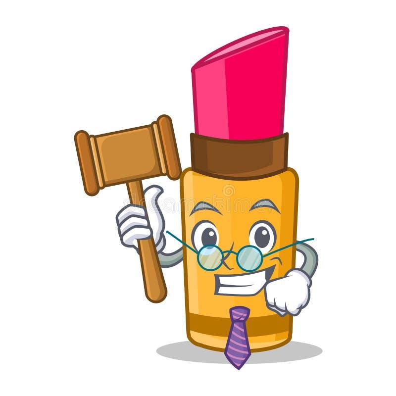 Стиль шаржа характера губной помады судьи иллюстрация штока