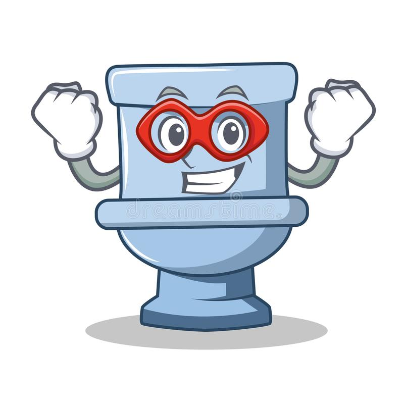 Стиль шаржа характера туалета супергероя бесплатная иллюстрация