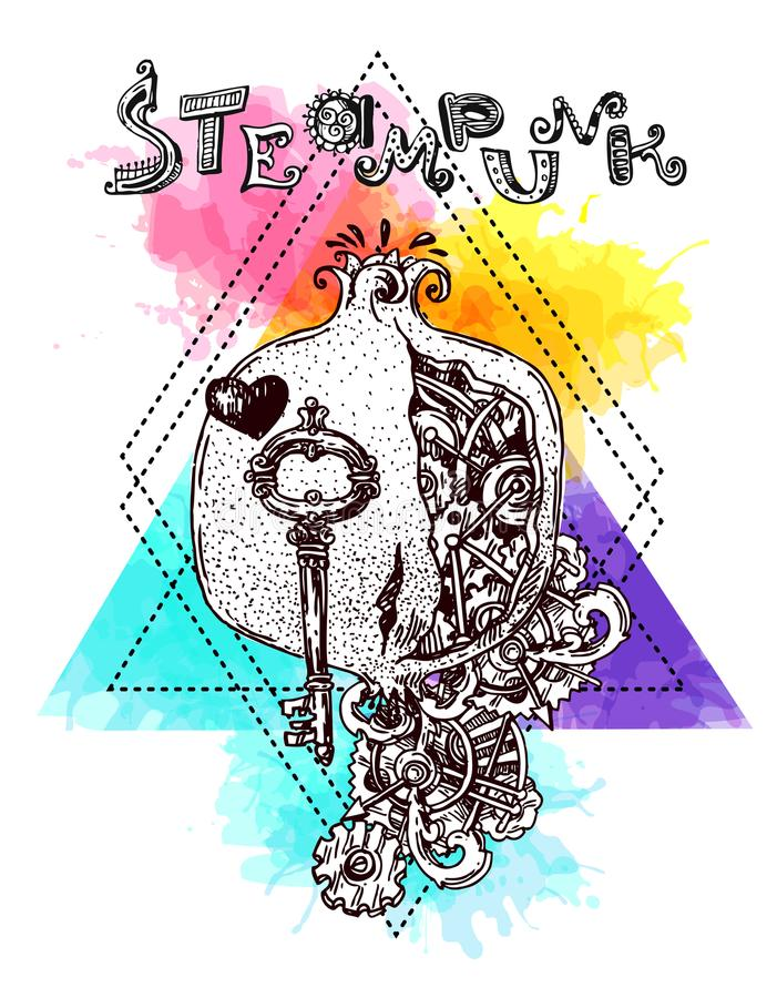 Стиль steampunk венисы иллюстрация вектора