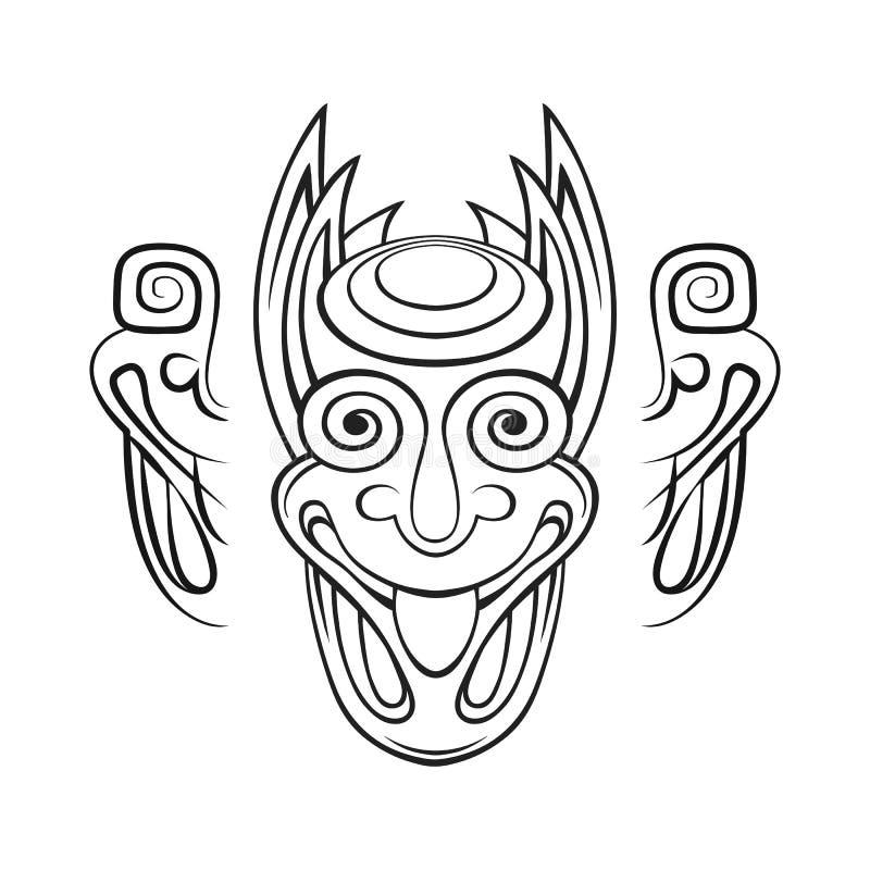 Стилизованная голова демона бесплатная иллюстрация