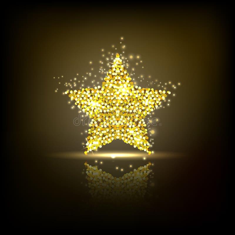 Стилизованная золотая звезда иллюстрация вектора