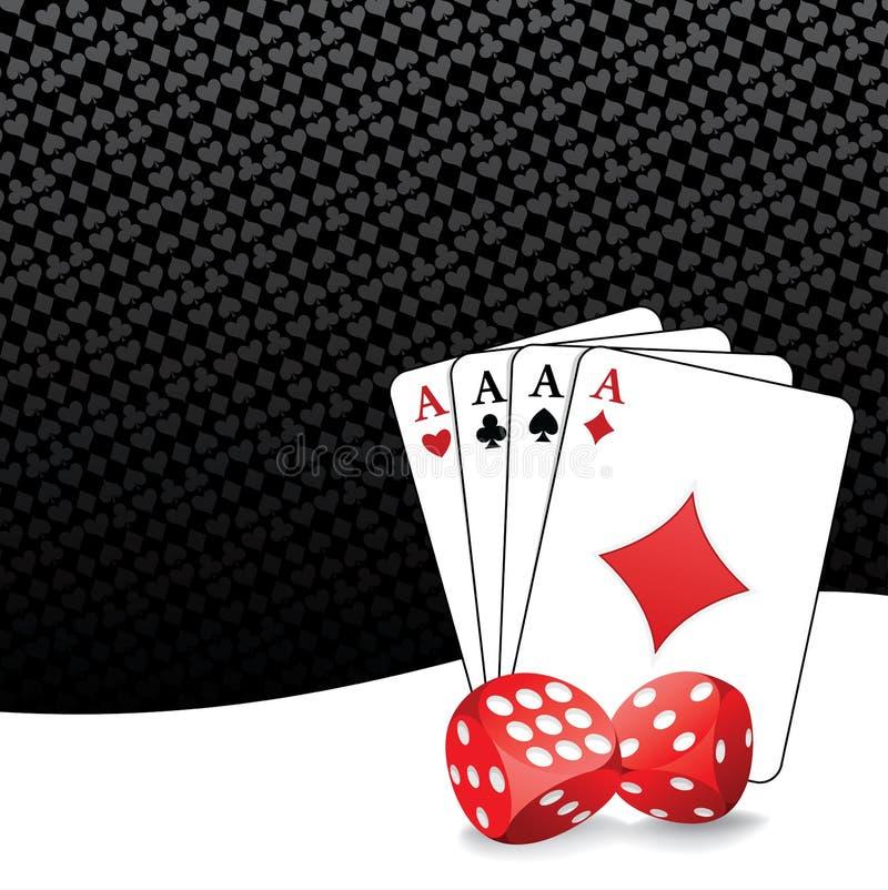 Стилизованная играя в азартные игры предпосылка бесплатная иллюстрация