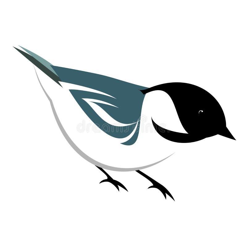 Стилизованная иллюстрация Chickadee бесплатная иллюстрация