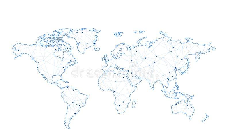 Стилизованная карта мира иллюстрация вектора