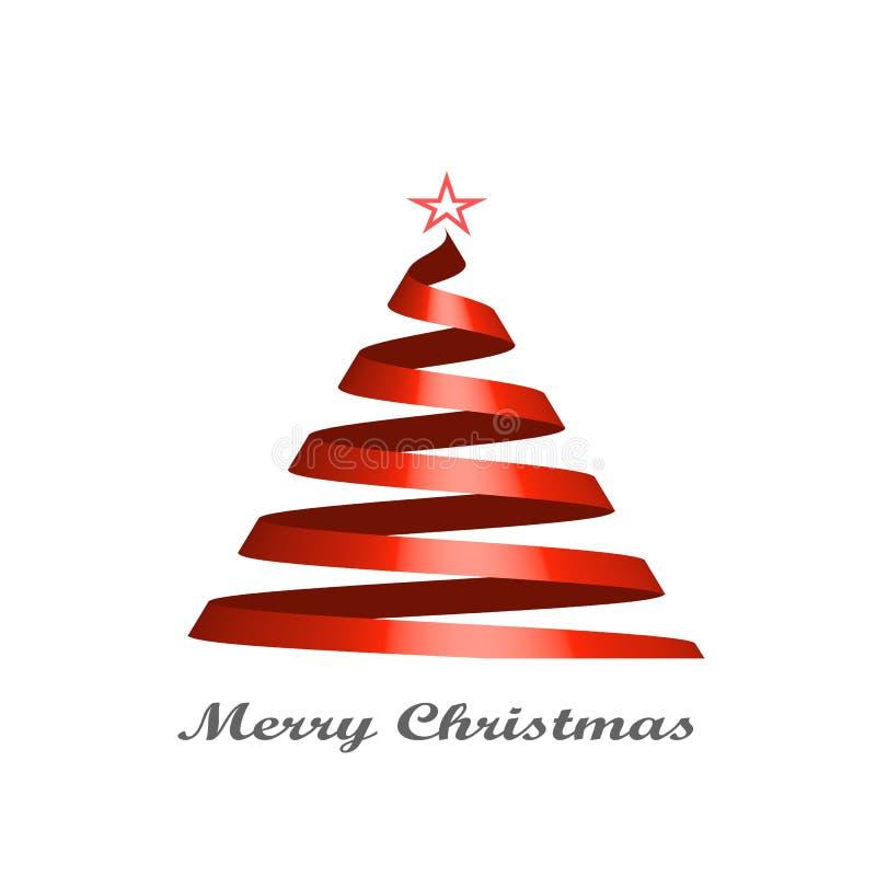 Стилизованная карточка рождественской елки ленты также вектор иллюстрации притяжки corel стоковые фотографии rf