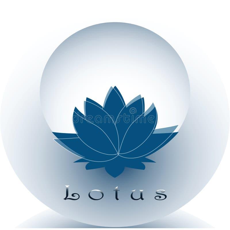 Стилизованное изображение голубого лотоса иллюстрация вектора