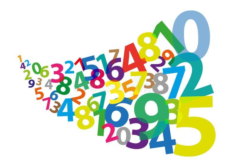 Стилизованные арабские цифры если дунутый прочь иллюстрация вектора