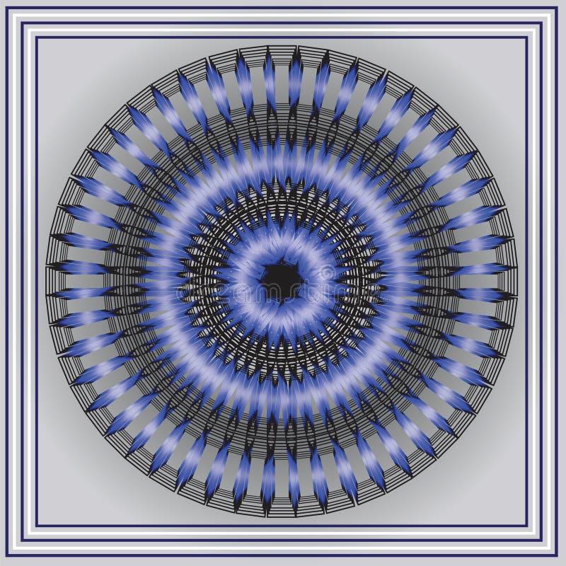 Стилизованный голубой огонь иллюстрация штока
