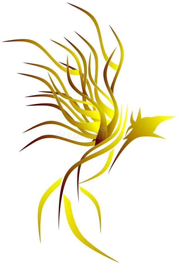 Стилизованный красивый цвет Феникс изолировал иллюстрация вектора