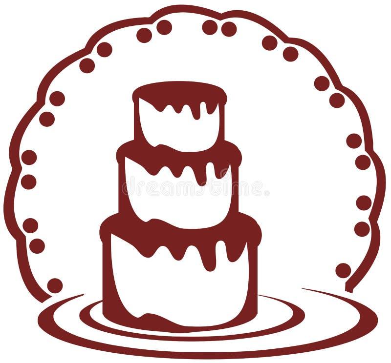 Стилизованный торт бесплатная иллюстрация