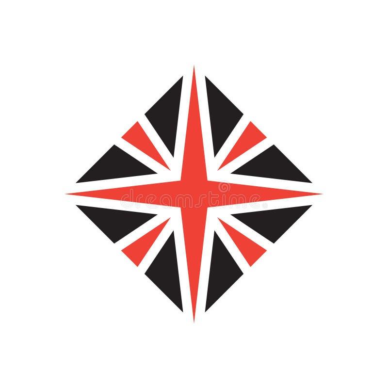 Стилизованный флаг британцев Элемент значка или дизайна вектора иллюстрация вектора