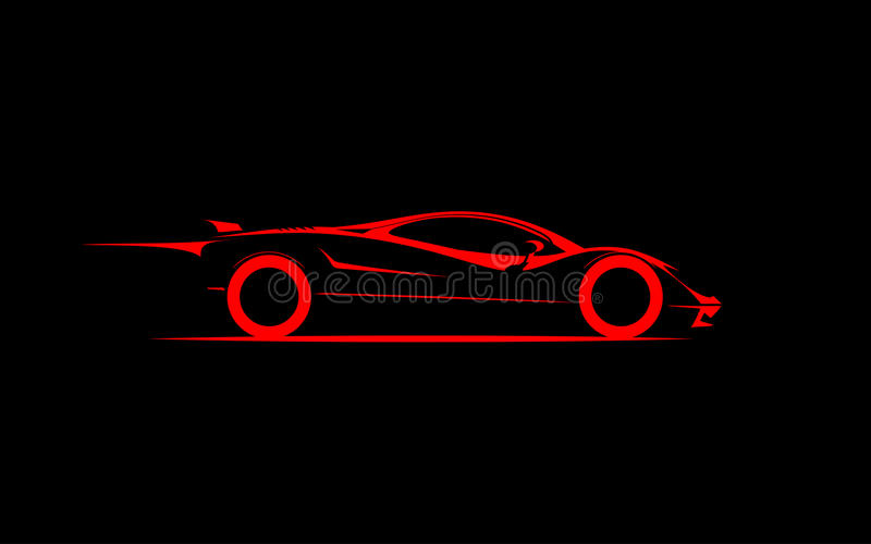 Стилизованный coupe автомобиля спорт иллюстрация вектора