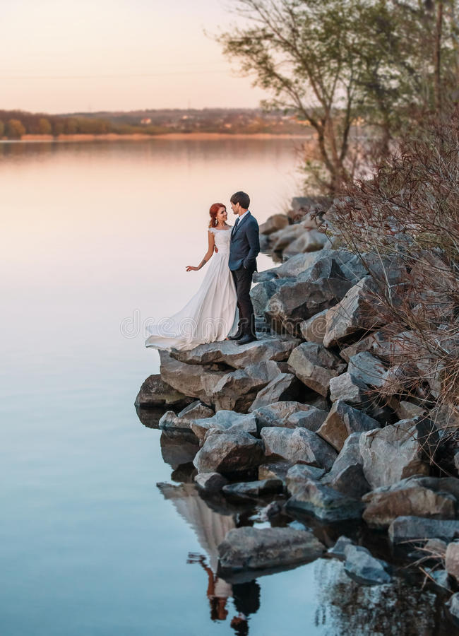 Стильная свадьба на природе стоковое фото