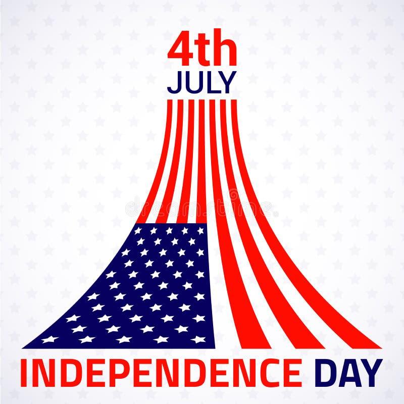 Download Стильный американский дизайн Дня независимости Иллюстрация вектора - иллюстрации насчитывающей карточка, badged: 41656153