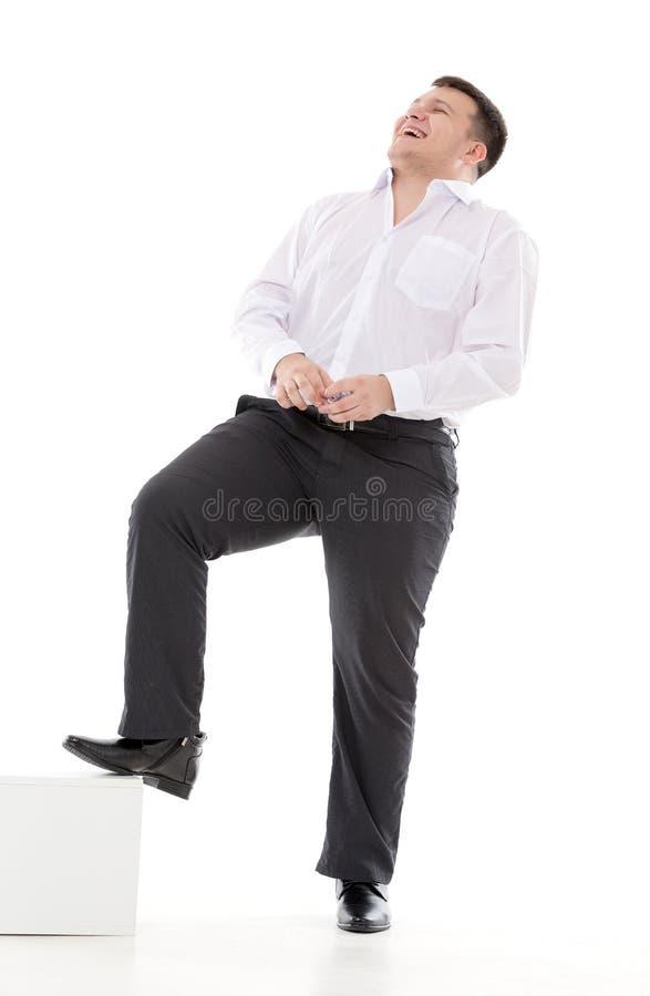 Стильный смех человека стоковое изображение rf