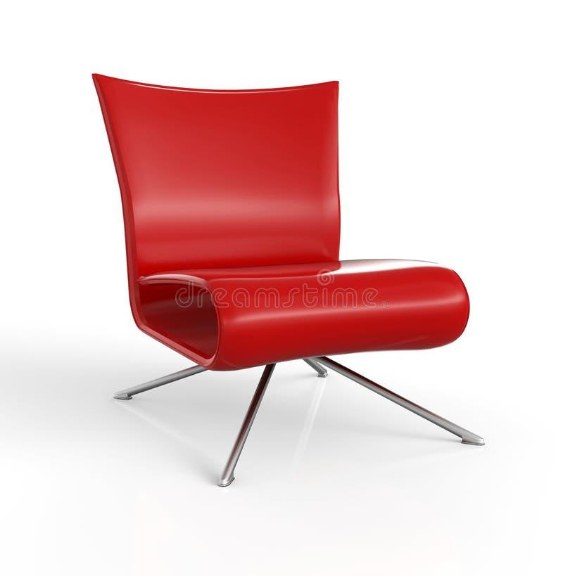 Стильный современный красный стул бесплатная иллюстрация