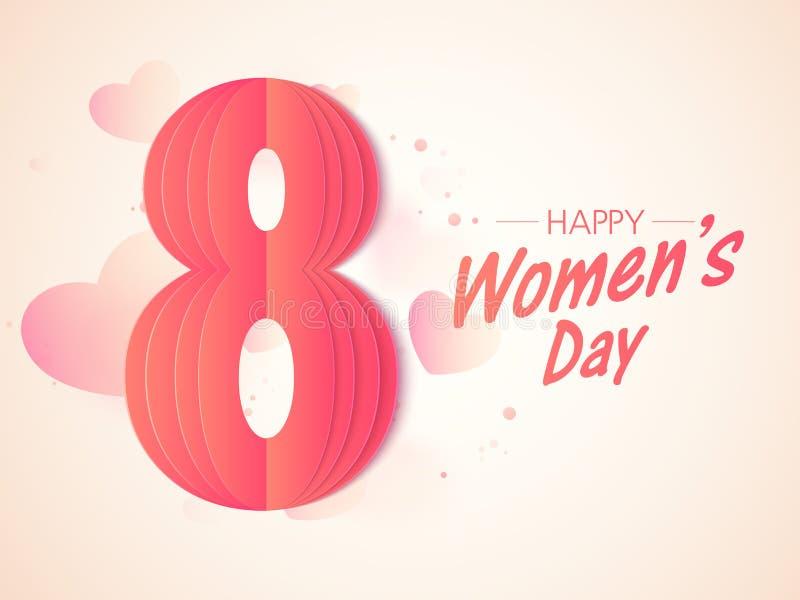 Стильный текст 8-ое марта на день женщин иллюстрация штока