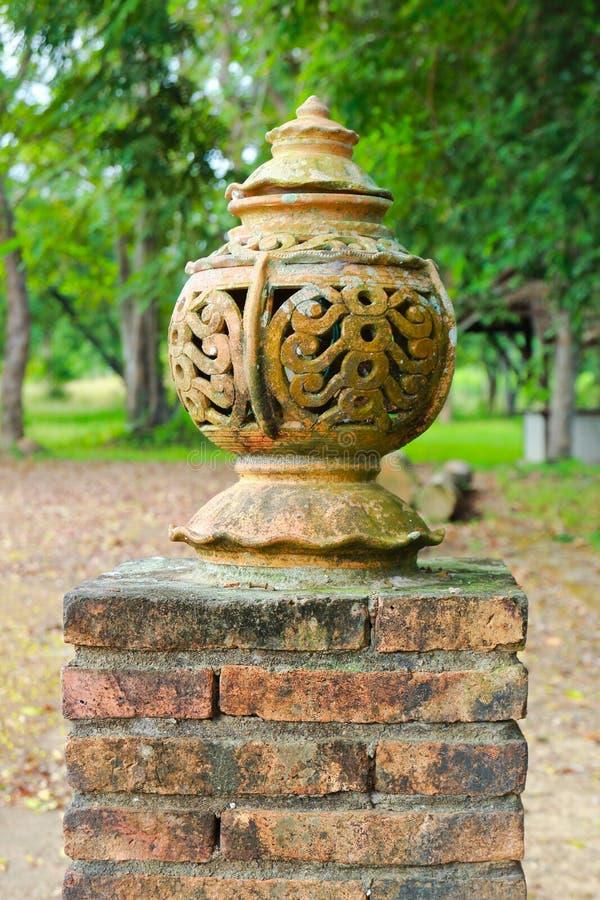 Стиль лампы сада тротуара тайский стоковое фото rf