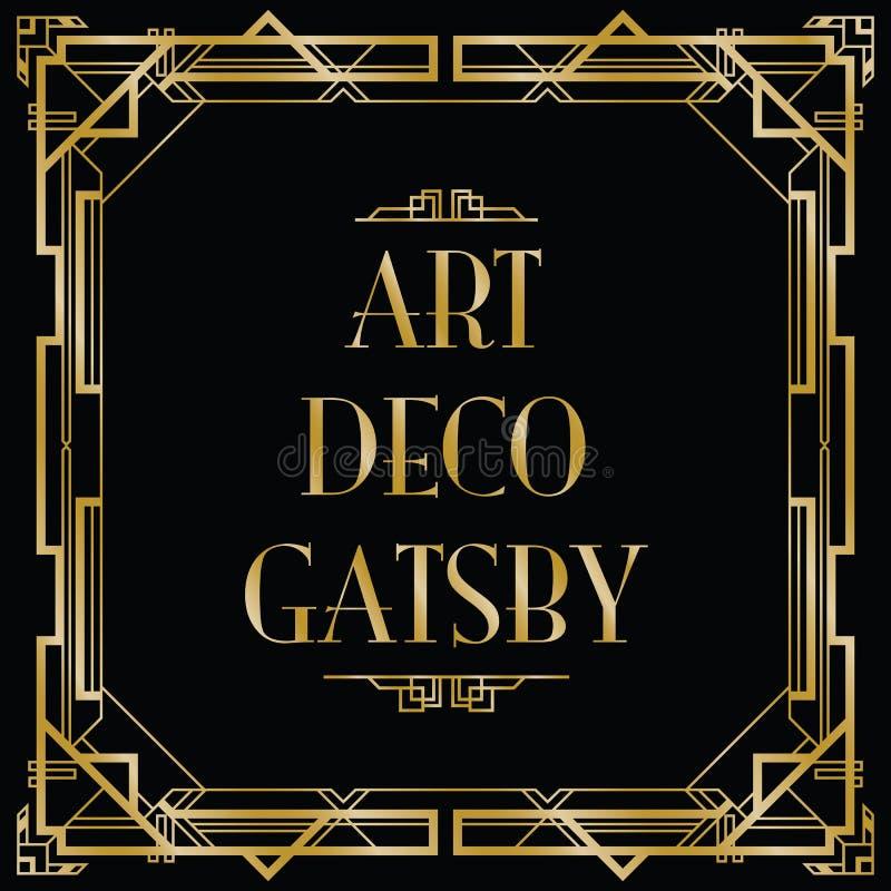 Стиль Арт Деко gatsby иллюстрация вектора