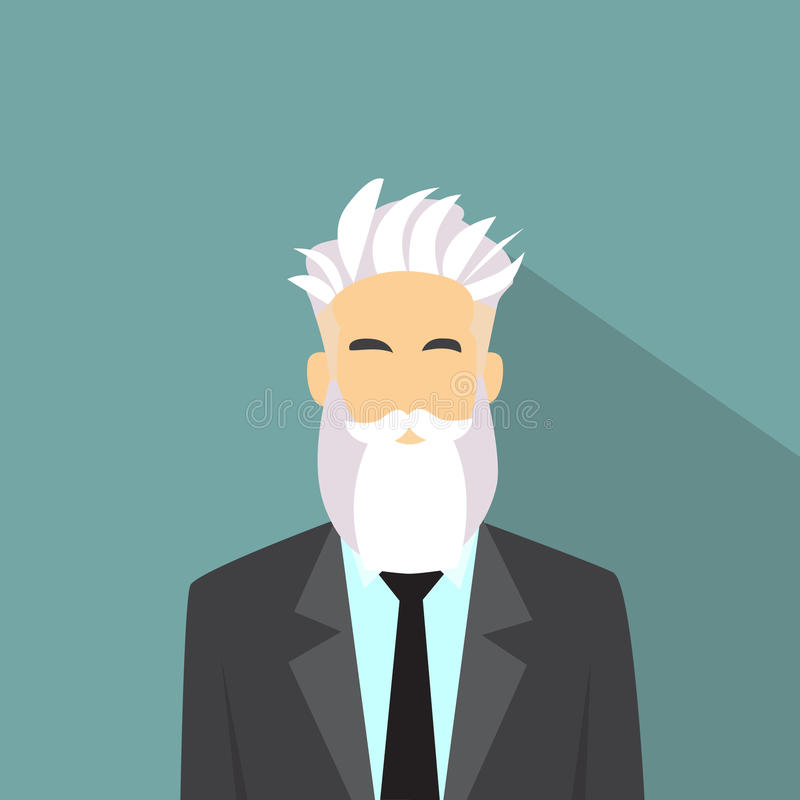 Стиль битника воплощения значка профиля бизнесмена мужской бесплатная иллюстрация